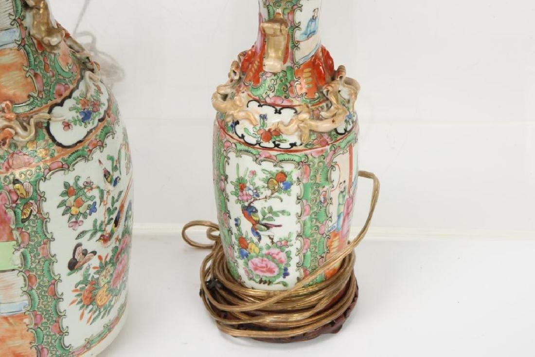 (4) ASIAN PORCELAIN TABLE LAMP BASES - 6