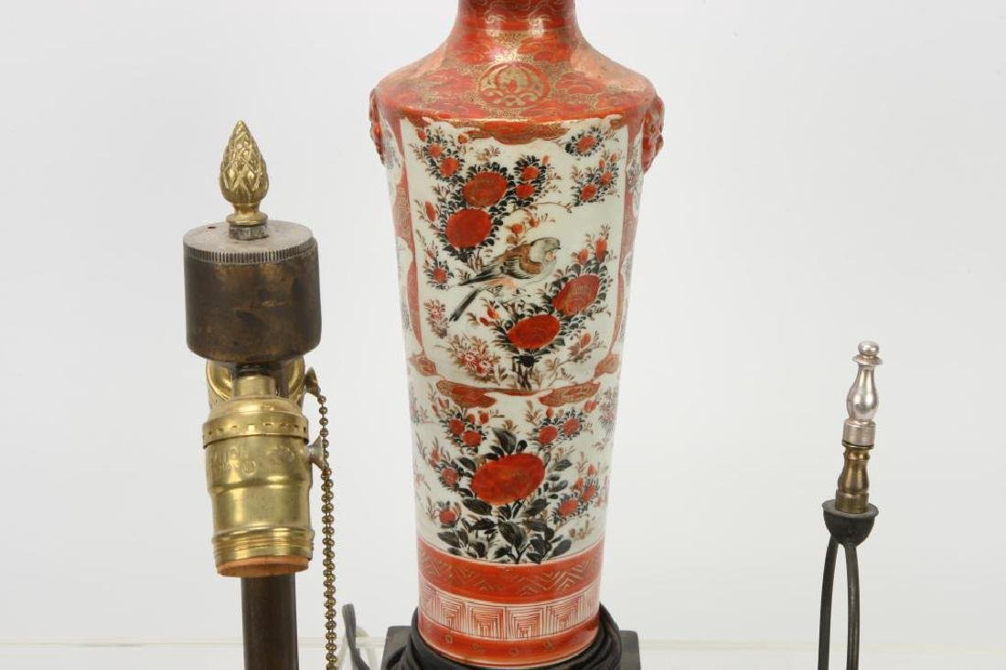 (4) ASIAN PORCELAIN TABLE LAMP BASES - 7