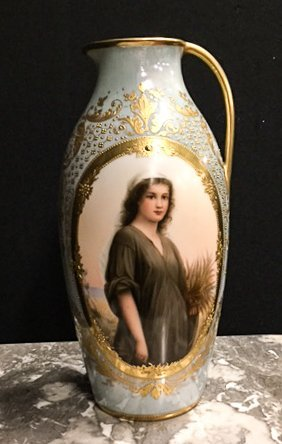 """ROYAL VIENNA PITCHER SIGNED """"WAGNER"""""""