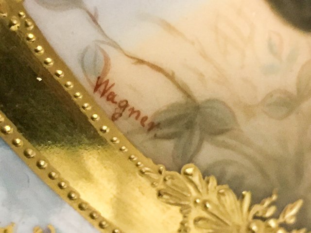 """ROYAL VIENNA PITCHER SIGNED """"WAGNER"""" - 3"""