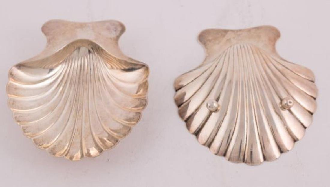 PAIR of TIFFANY STERLING SILVER SHELL NUT DISHES - 4