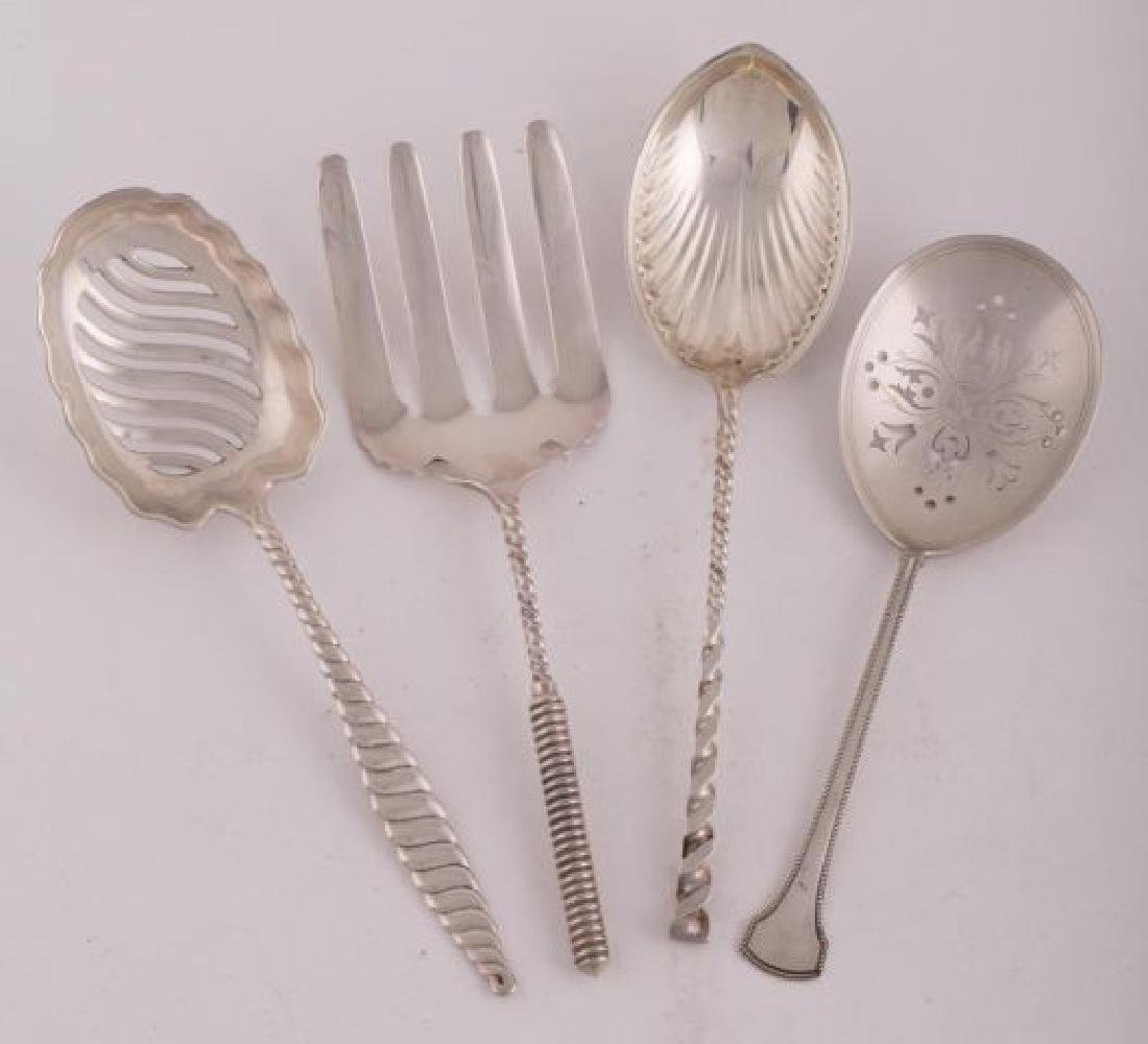 (4) STERLING SILVER SERVING PIECES - 2