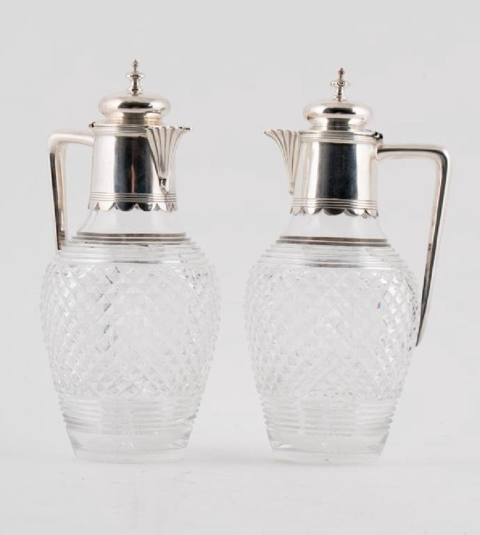 HARRY ATKIN STERLING SILVER & CRYSTAL DECANTERS
