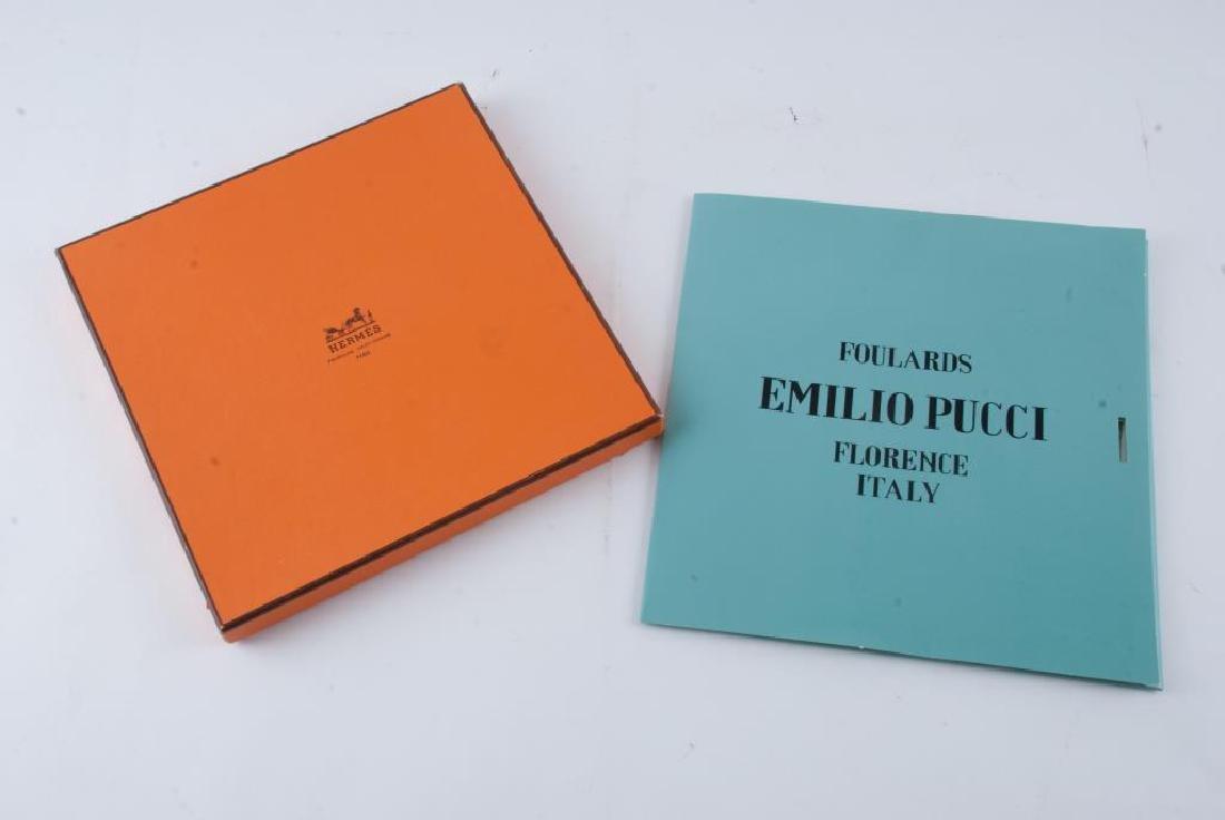 HERMES PARIS AND EMILIO PUCCI FLORENCE SILK SCARFS - 2