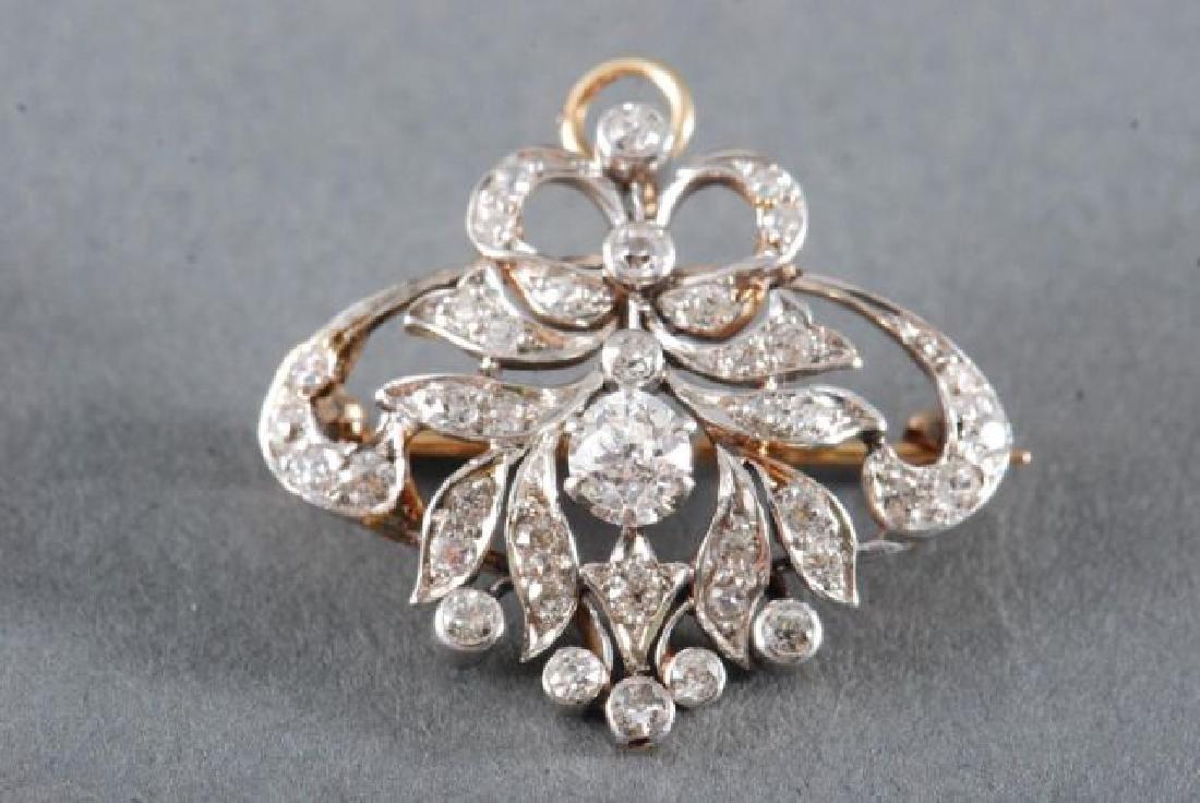 ANTIQUE DIAMOND BROOCH / PENDANT
