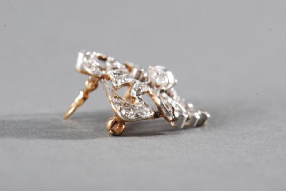 ANTIQUE DIAMOND BROOCH / PENDANT - 2