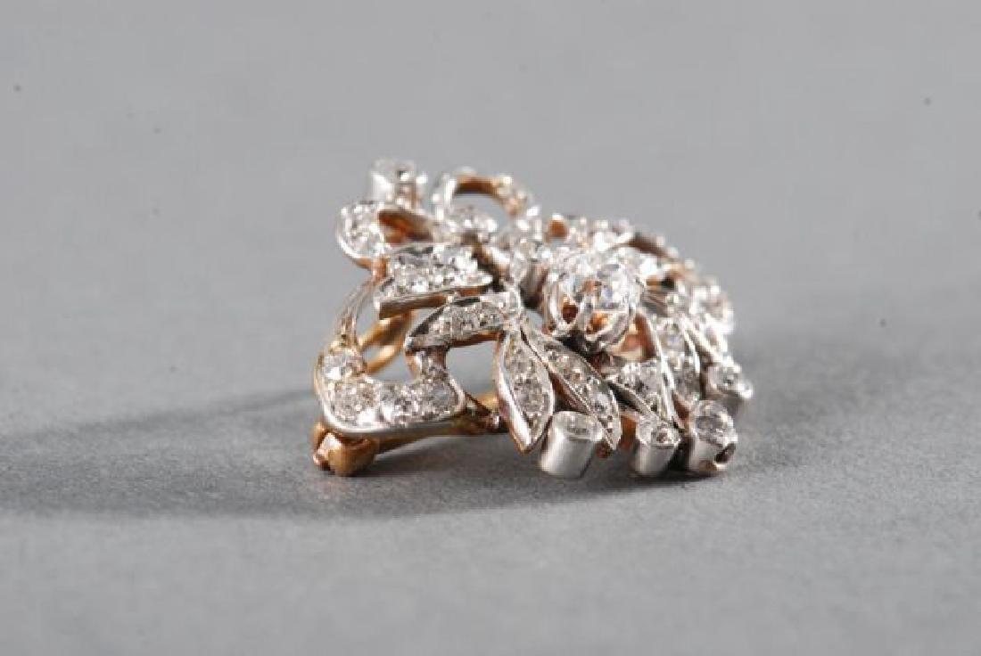 ANTIQUE DIAMOND BROOCH / PENDANT - 3
