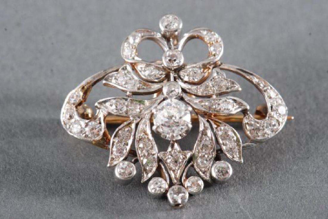 ANTIQUE DIAMOND BROOCH / PENDANT - 4