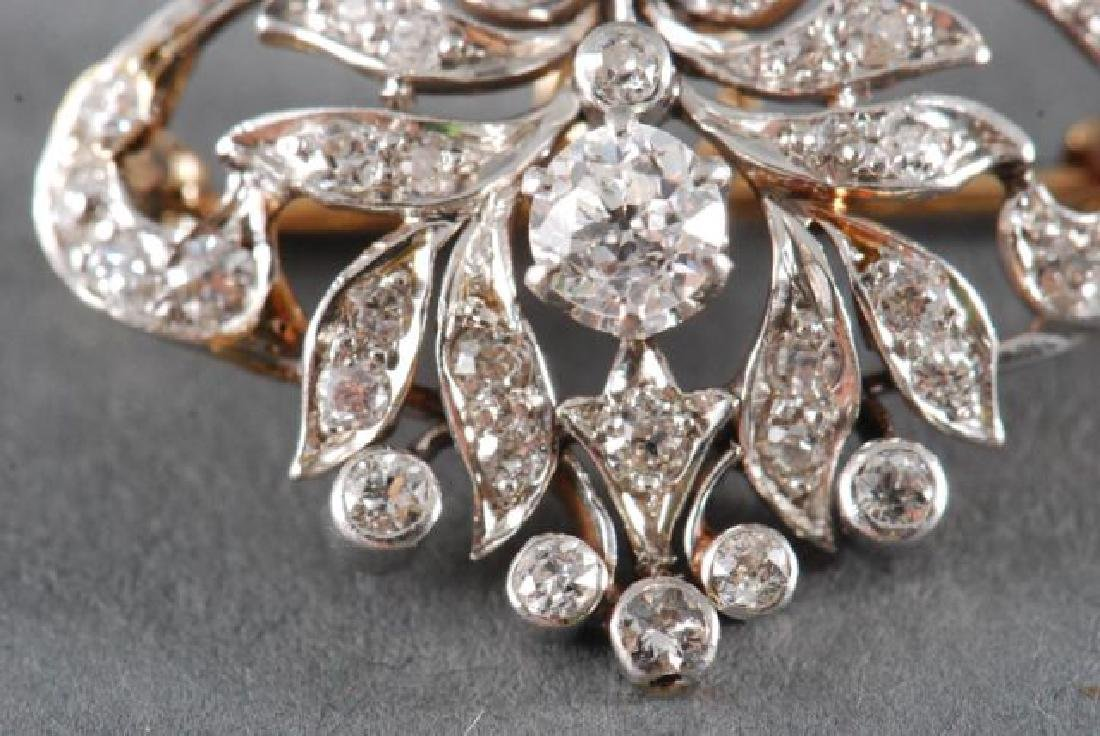 ANTIQUE DIAMOND BROOCH / PENDANT - 6