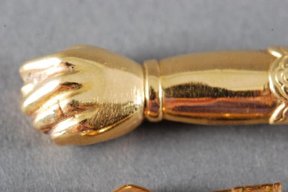 (3) 18K FIGA FISTS and a 14K GOLD PENDANT - 2