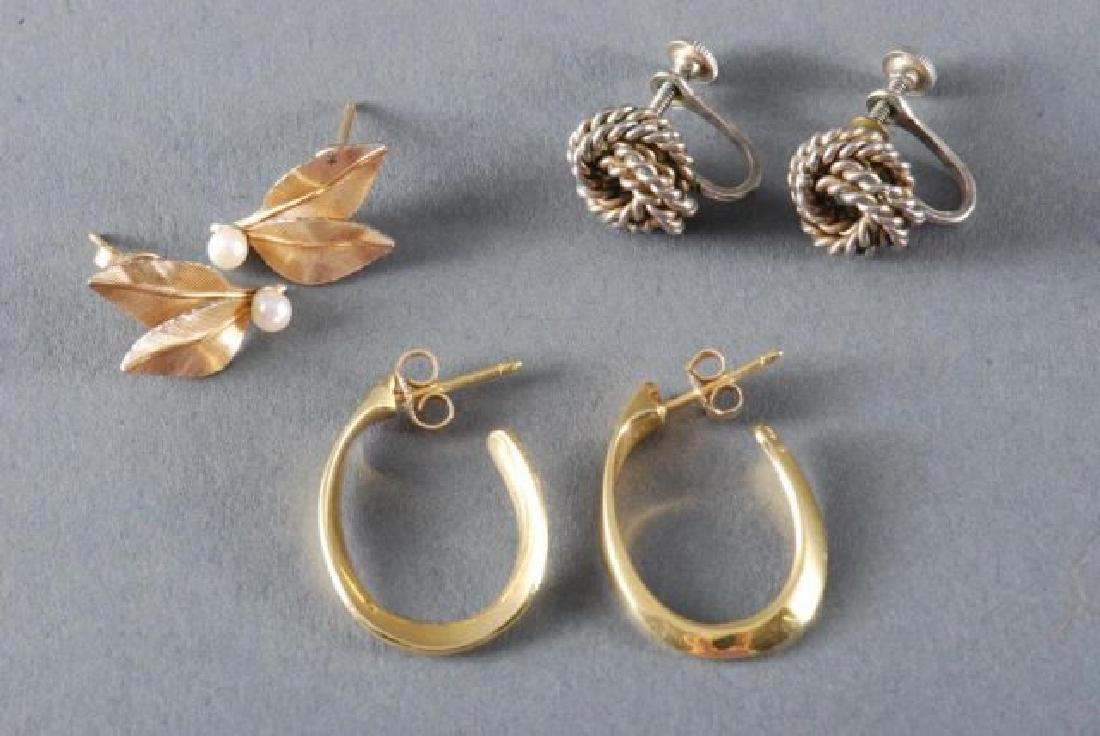 (1) PAIR OF 18K GOLD EARRINGS and (2) OTHERS