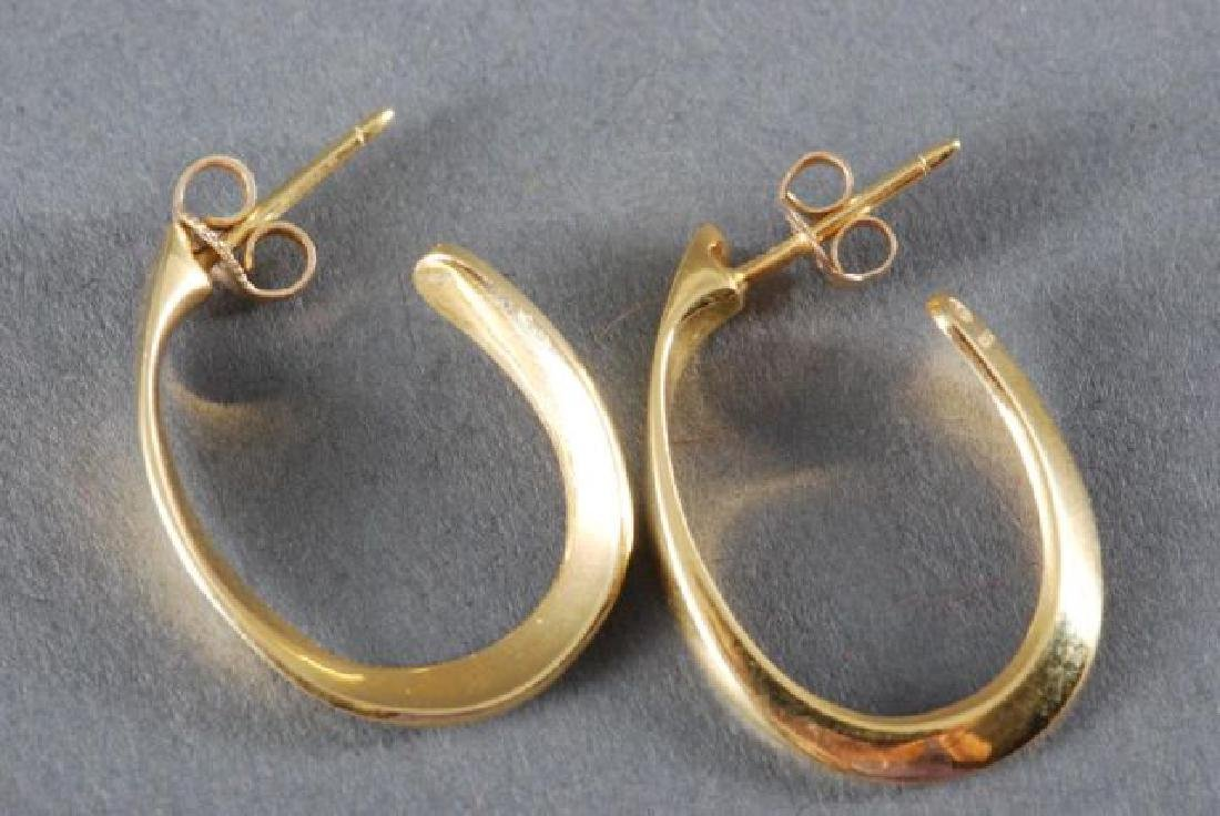 (1) PAIR OF 18K GOLD EARRINGS and (2) OTHERS - 2