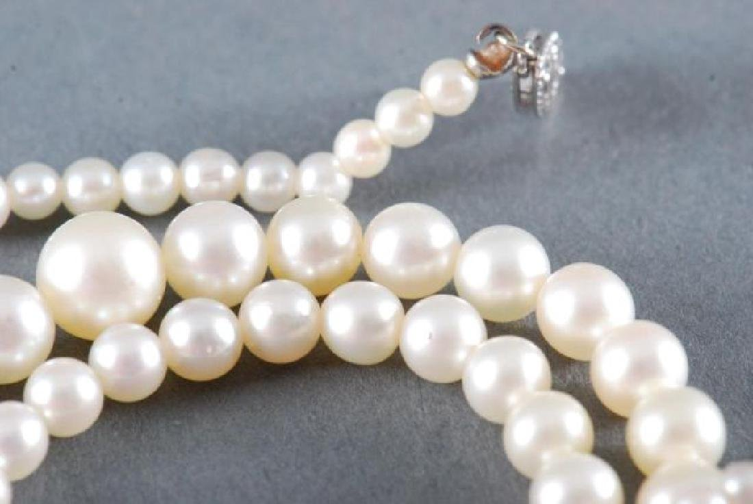 PEARL NECKLACE with 14K WHITE GOLD CLASP - 2