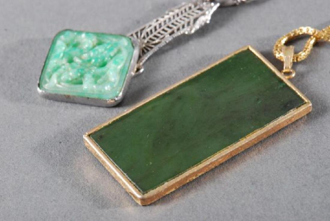 (4) PIECES OF JEWELRY SET with JADE - 3