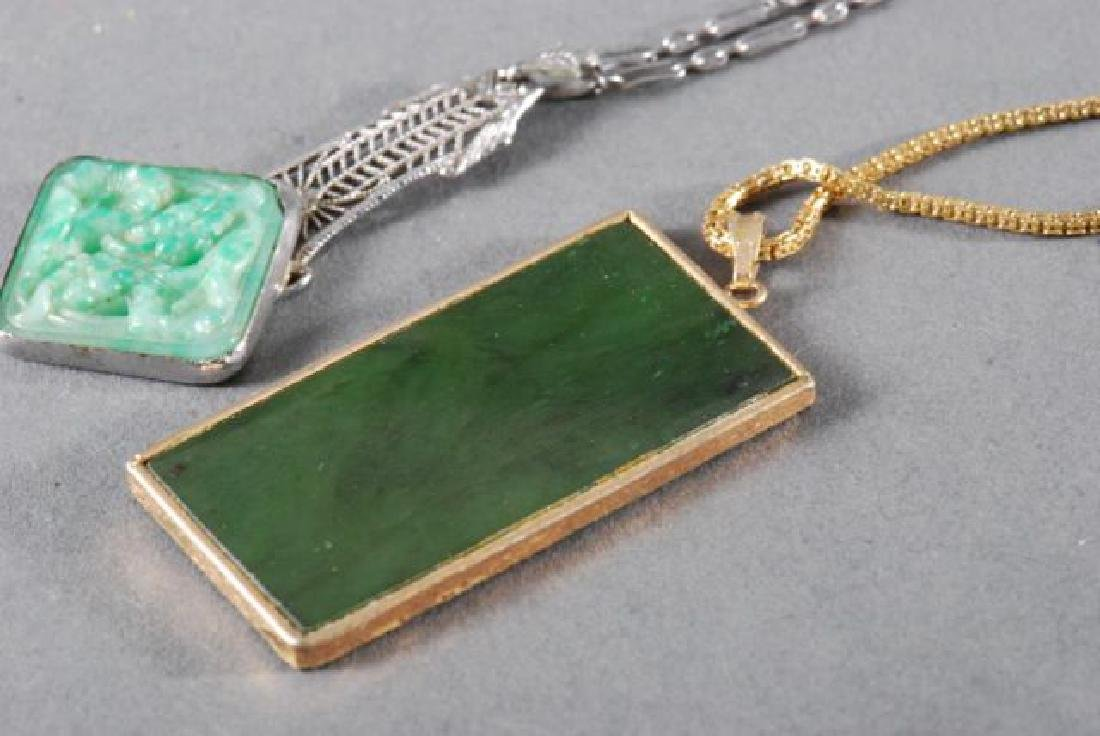 (4) PIECES OF JEWELRY SET with JADE - 4