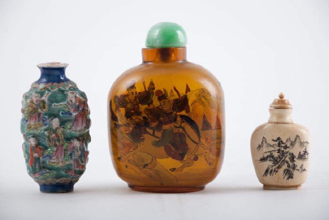 (3) CHINESE SNUFF BOTTLES