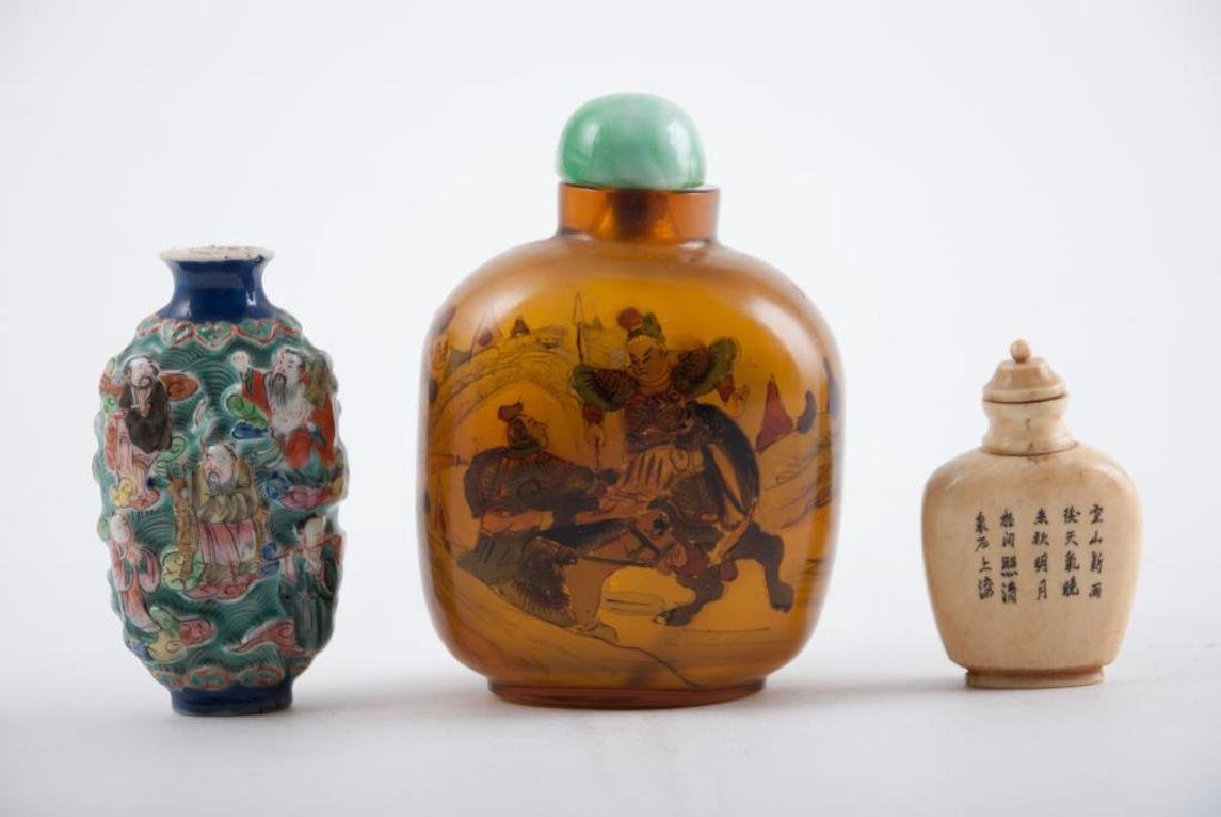 (3) CHINESE SNUFF BOTTLES - 5