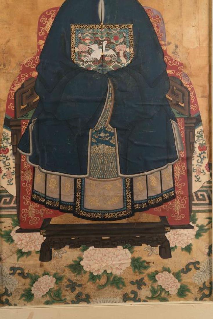 (18th/19th c)CHINESE SCHOOL ANCESTRAL PORTRAIT - 2
