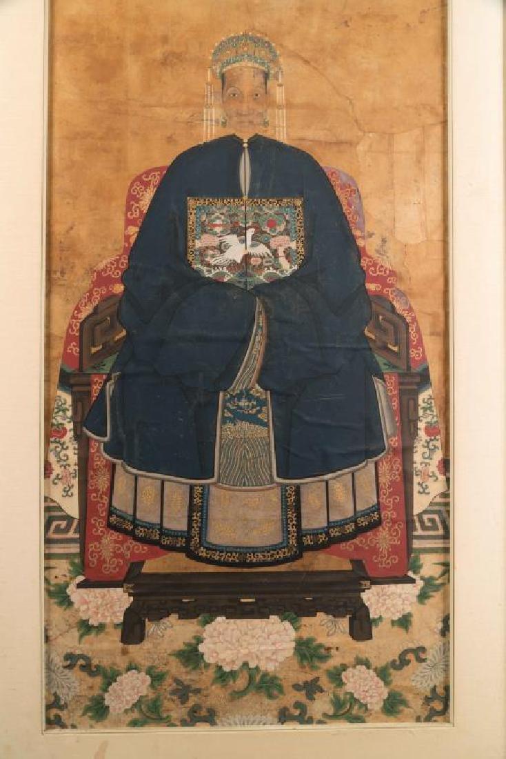 (18th/19th c)CHINESE SCHOOL ANCESTRAL PORTRAIT - 3