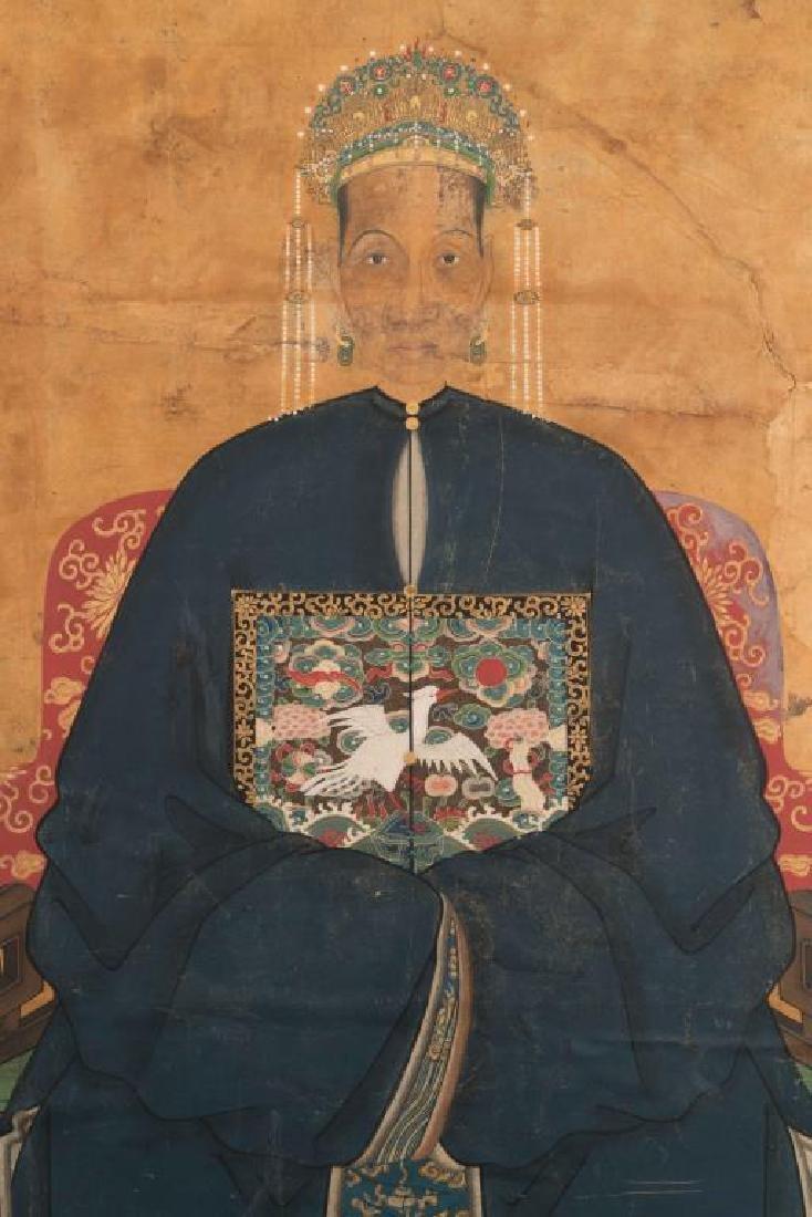(18th/19th c)CHINESE SCHOOL ANCESTRAL PORTRAIT - 7