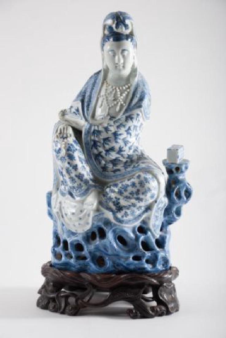 (19th c) CHINESE KANNON KWAN-GUAN YIN GODDESS