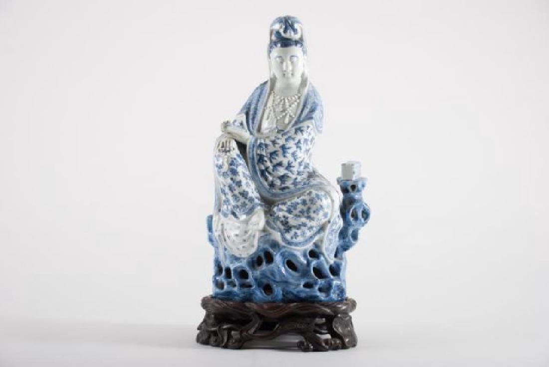 (19th c) CHINESE KANNON KWAN-GUAN YIN GODDESS - 4