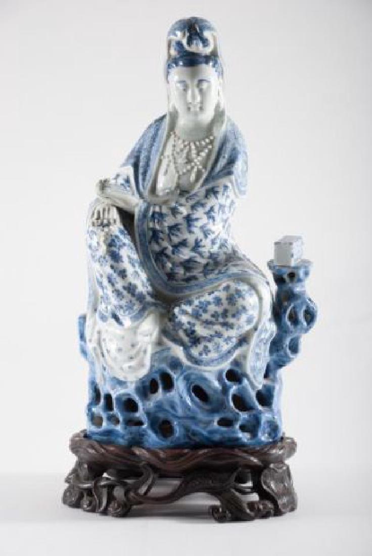 (19th c) CHINESE KANNON KWAN-GUAN YIN GODDESS - 5