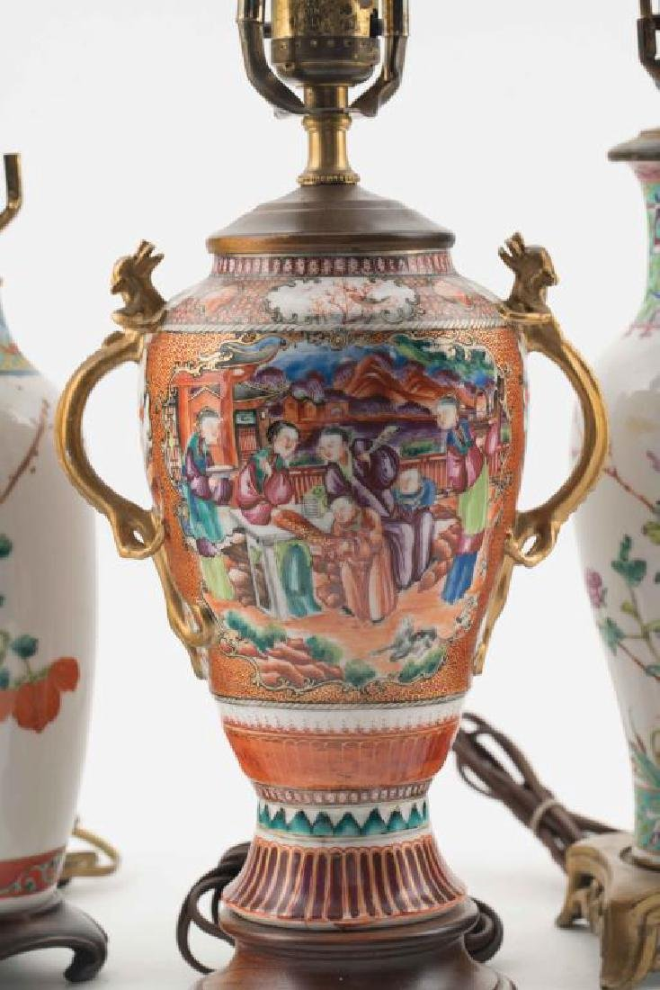 (4) CHINESE PORCELAIN TABLE LAMPS - 2