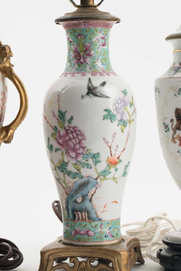 (4) CHINESE PORCELAIN TABLE LAMPS - 3