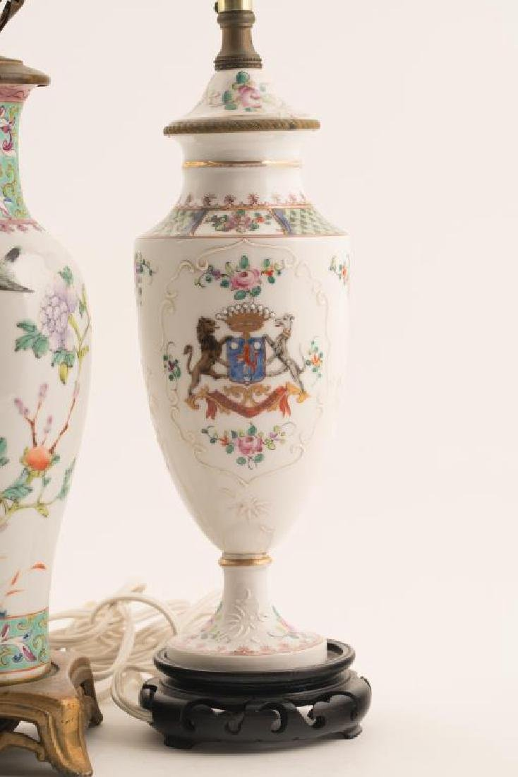 (4) CHINESE PORCELAIN TABLE LAMPS - 4
