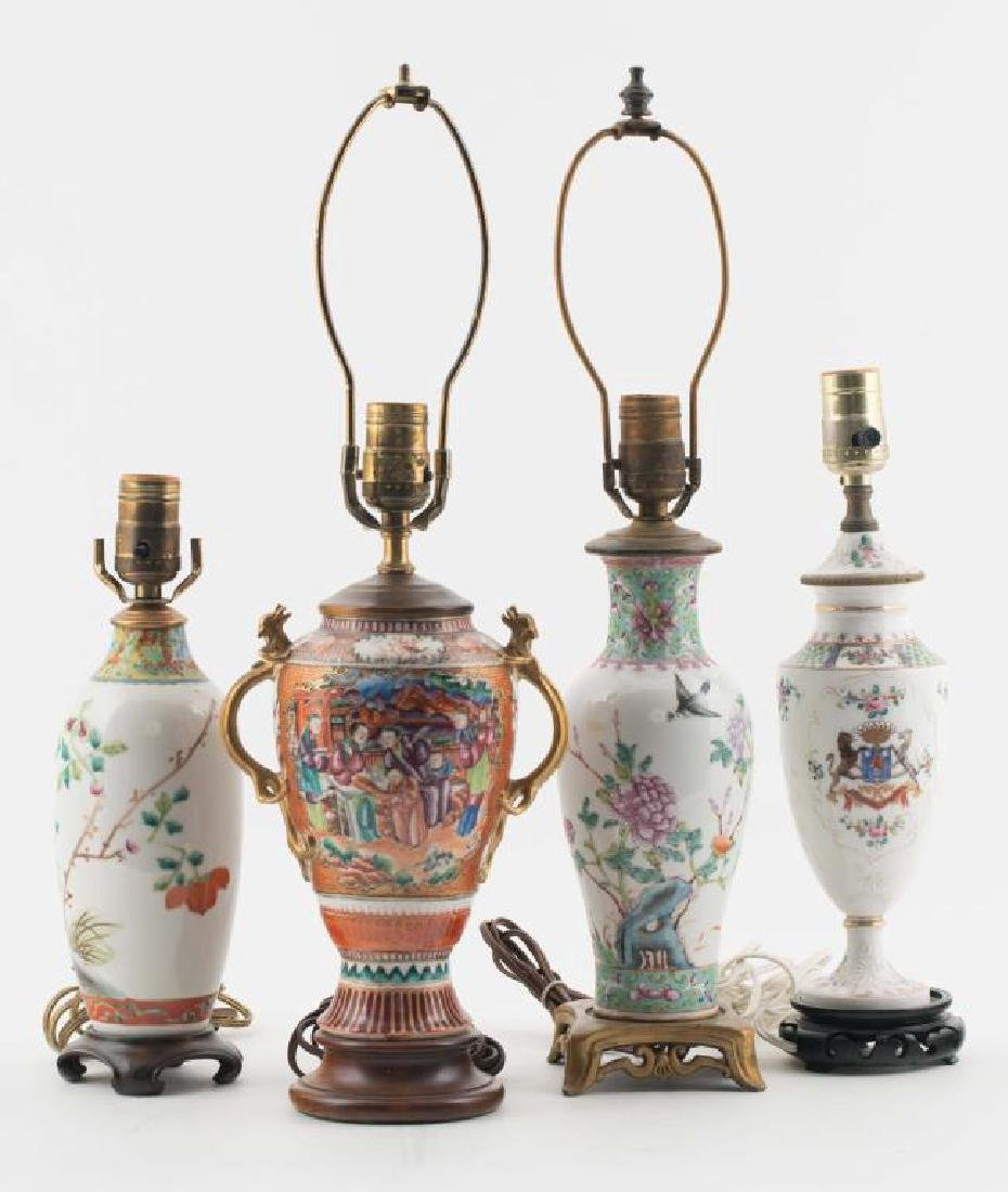 (4) CHINESE PORCELAIN TABLE LAMPS - 6