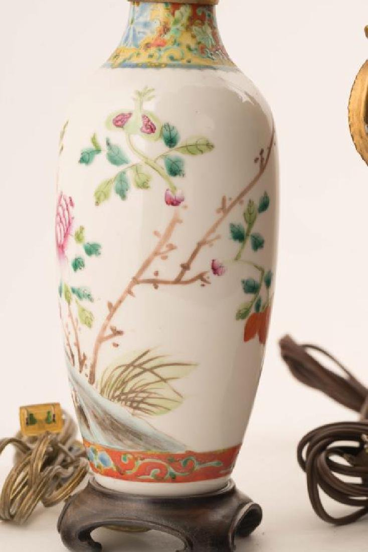 (4) CHINESE PORCELAIN TABLE LAMPS - 7