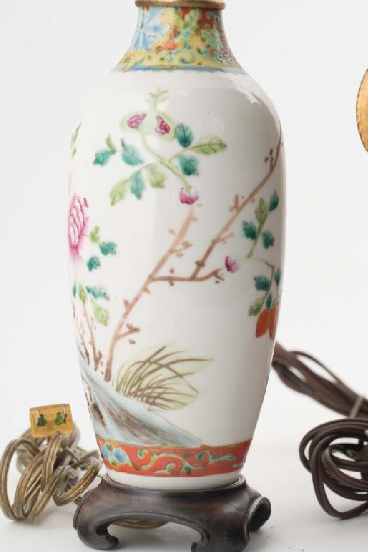 (4) CHINESE PORCELAIN TABLE LAMPS - 8