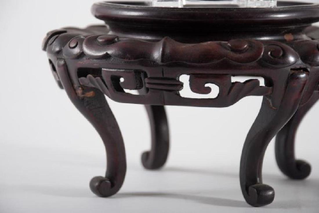 FINE QUALITY ASIAN CARVED STAND, BASE AND COVER - 3