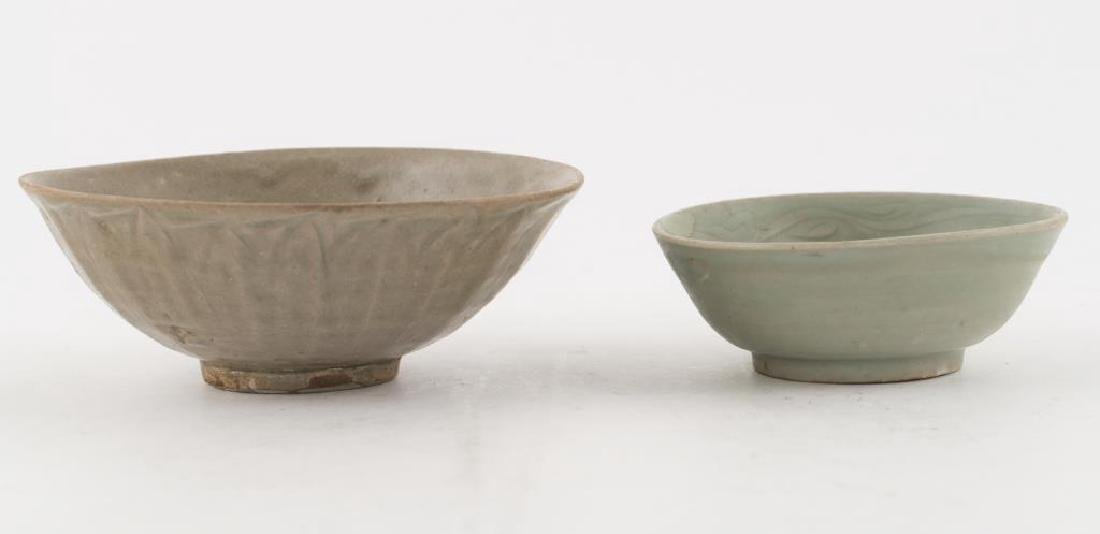(2) EARLY CHINESE LONGQUAN CELEDON BOWLS