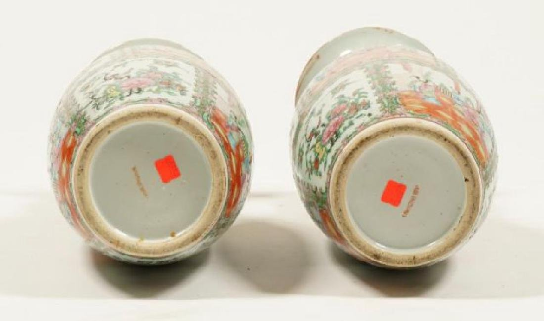 PAIR OF CHINESE ROSE MEDALLION PORCELAIN VASES - 4