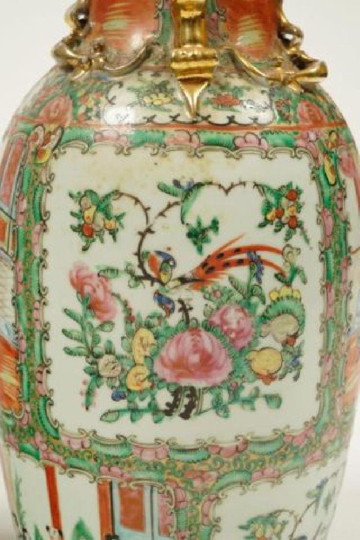 PAIR OF CHINESE ROSE MEDALLION PORCELAIN VASES - 7