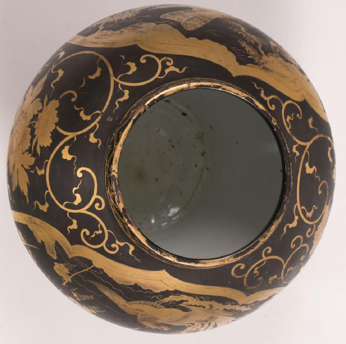CHINESE FAMILLE NOIRE COVERED VASE - 7