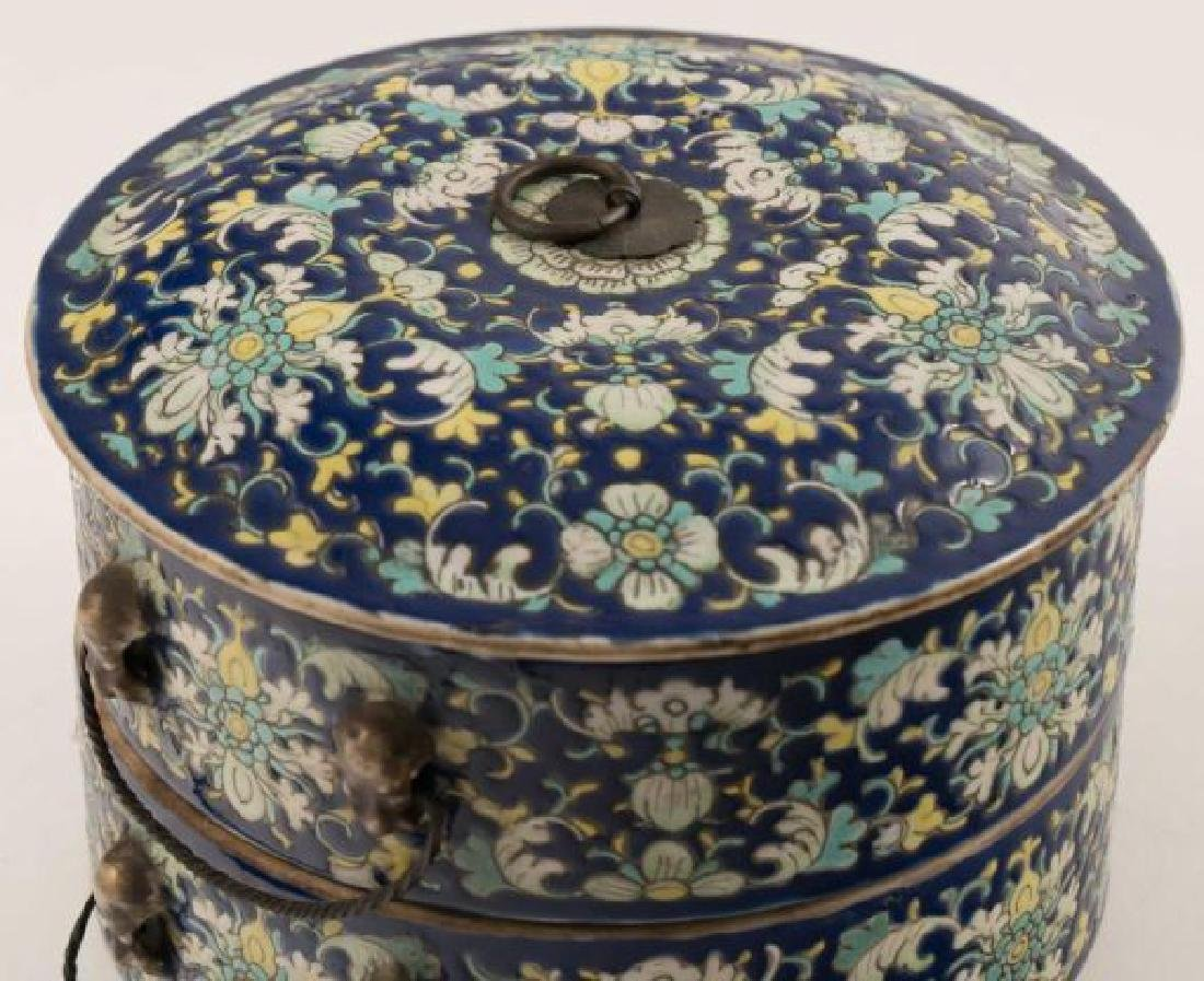 ASIAN PORCELAIN SWEET MEAT CONTAINER - 2