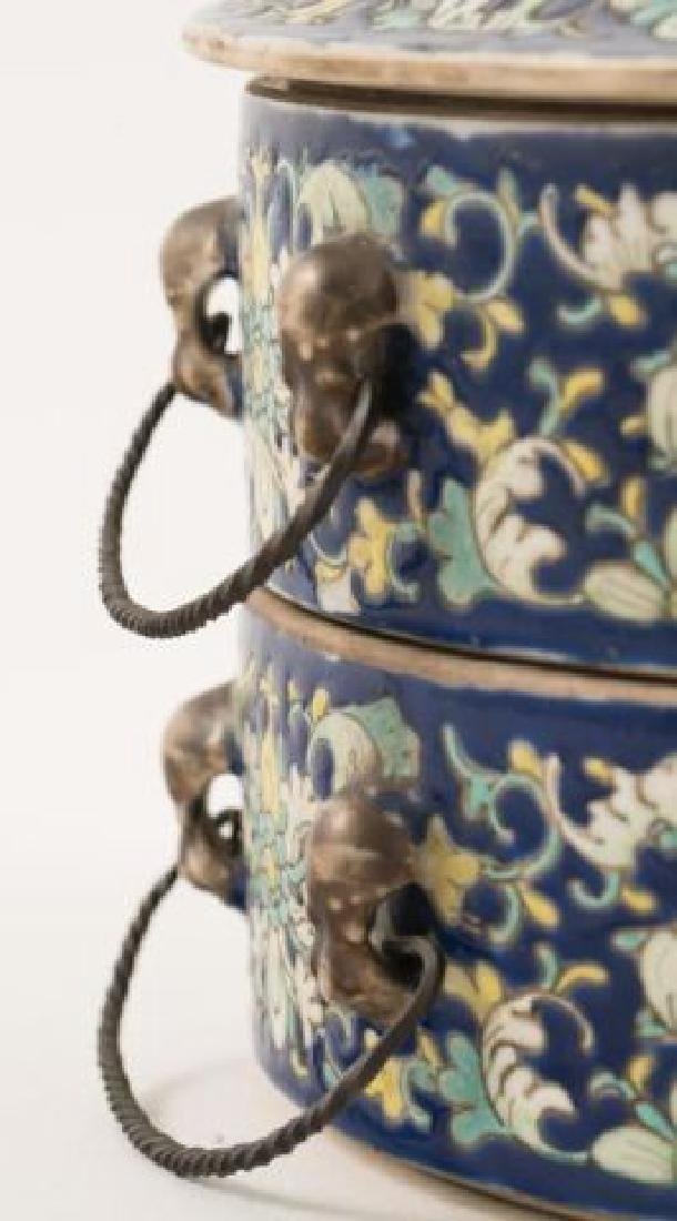 ASIAN PORCELAIN SWEET MEAT CONTAINER - 3