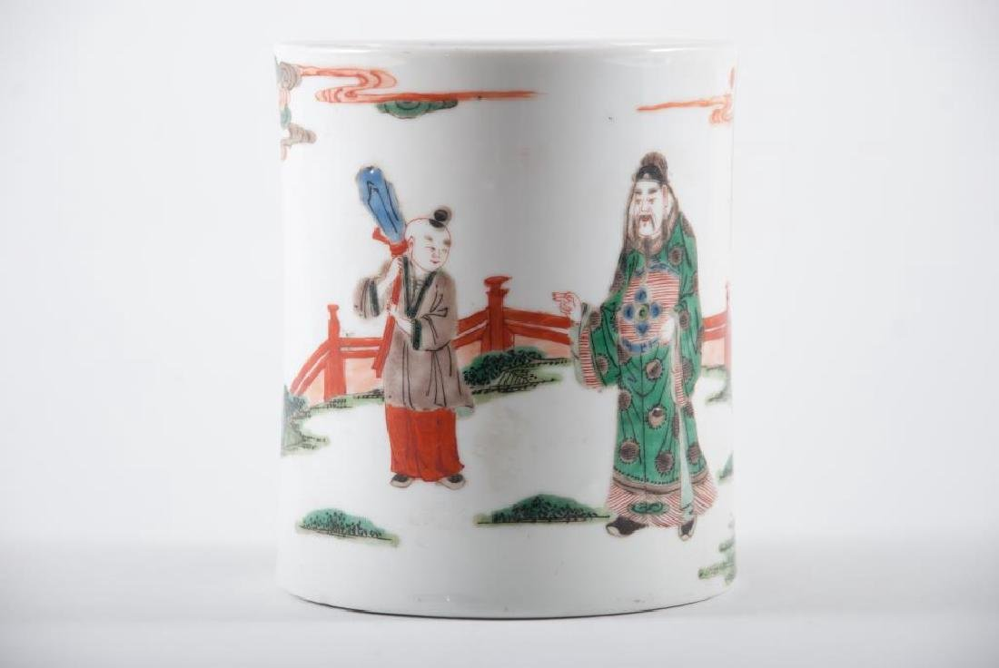 (19th c) CHINESE PORCELAIN BRUSH POT