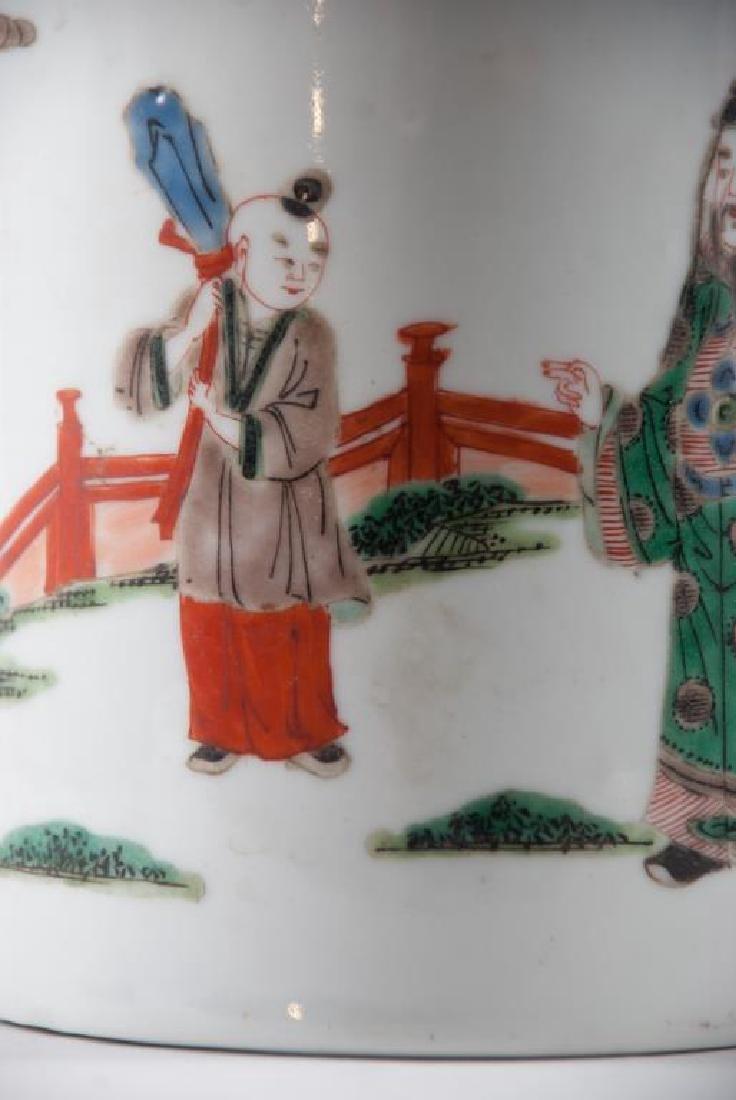 (19th c) CHINESE PORCELAIN BRUSH POT - 5