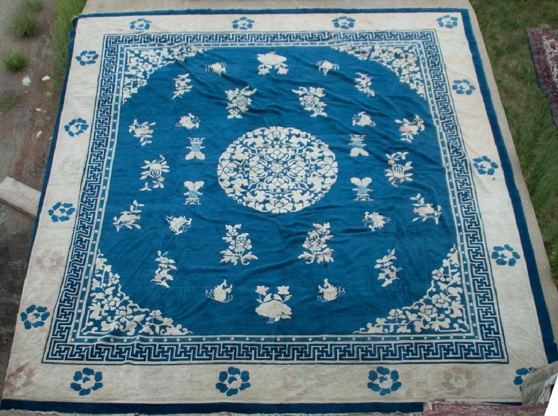 EARLY (20th)c ANTIQUE PEKING CHINESE CARPET