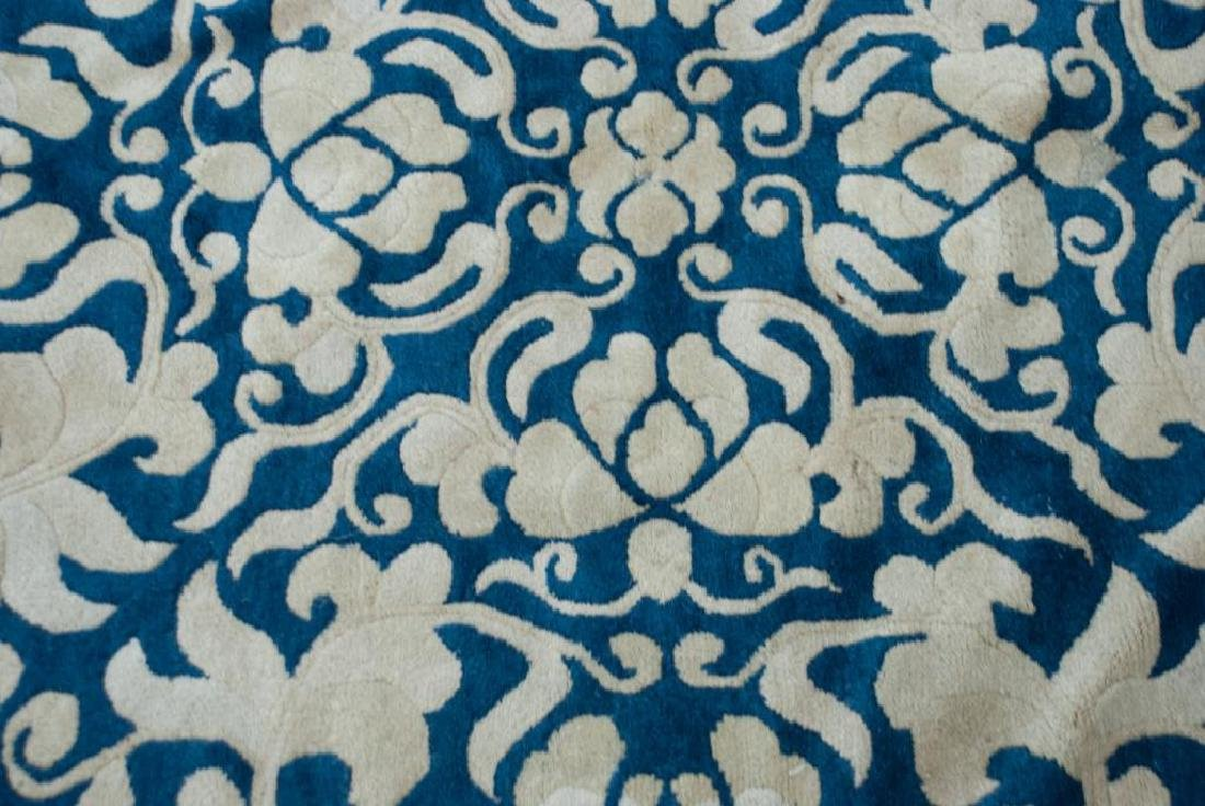 EARLY (20th)c ANTIQUE PEKING CHINESE CARPET - 3