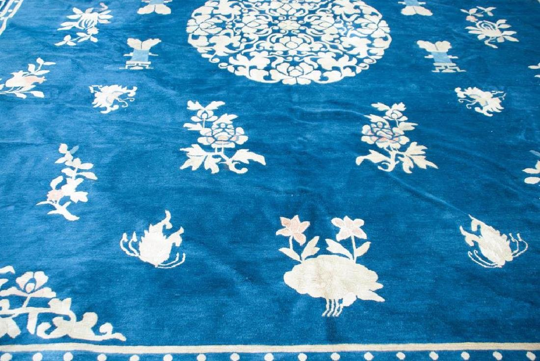 EARLY (20th)c ANTIQUE PEKING CHINESE CARPET - 4