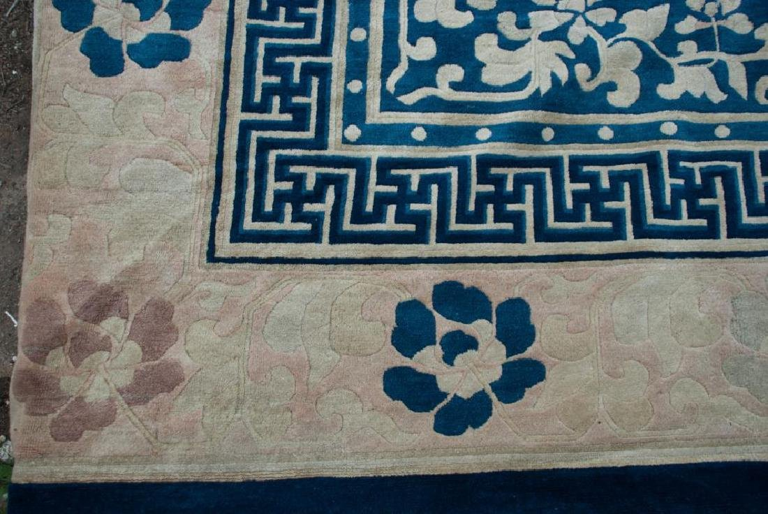 EARLY (20th)c ANTIQUE PEKING CHINESE CARPET - 6
