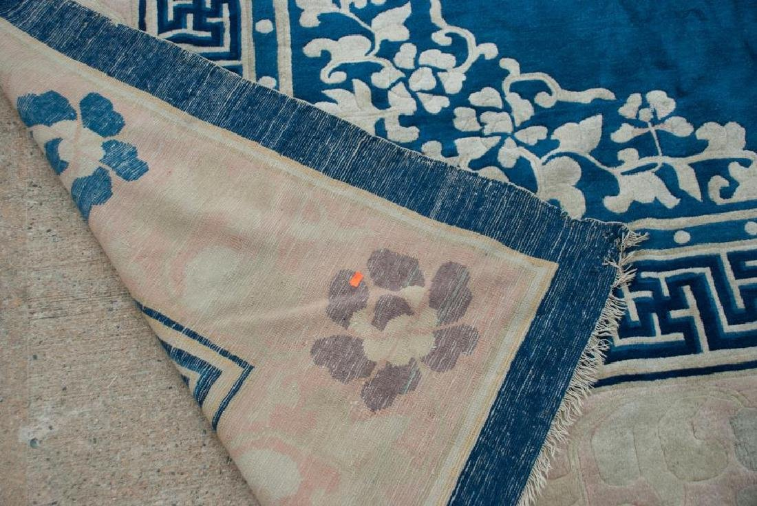 EARLY (20th)c ANTIQUE PEKING CHINESE CARPET - 7
