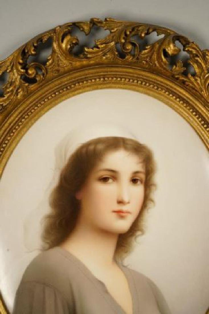 """LARGE KPM PLAQUE """"RUTH"""" signed WAGNER - 7"""