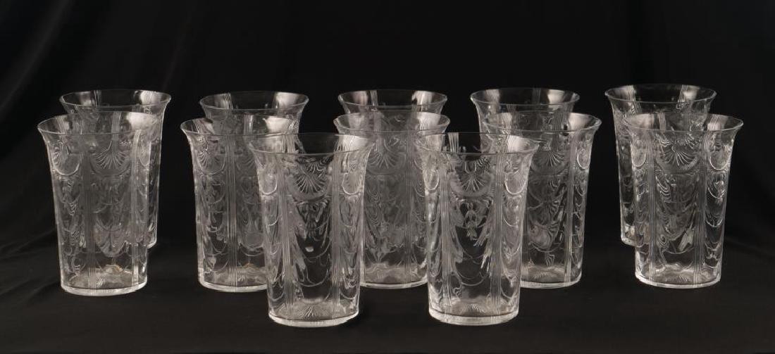 (12) CUT GLASS PUNCH CUPS circa 1900