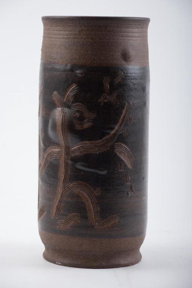 EDWIN AND MARY SCHEIER DECORATED VASE - 2